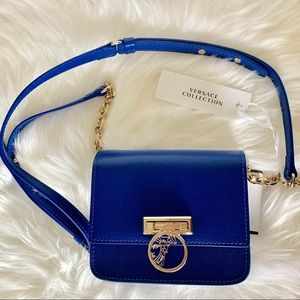 Versace Collection Leather Crossbody Bag